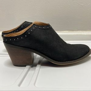 Lucky Brand Mabri Leather Bootie Mules size 9